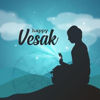Salutations du seigneur bouddha vesak
