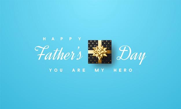 Salutations de la fête des pères heureux avec un design minimaliste