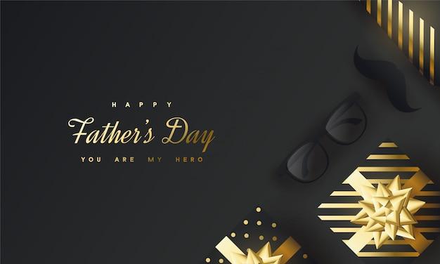 Salutations de la fête des pères heureux