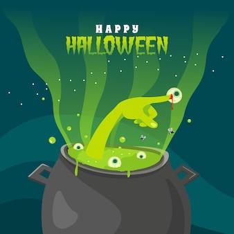 Salutations d'halloween yeux de melting pot