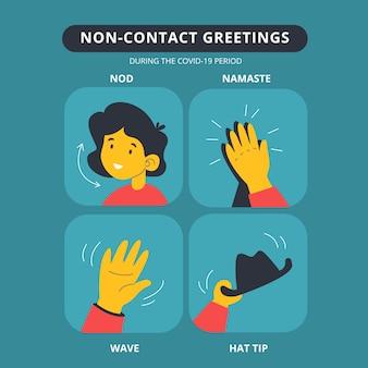 Salutations sans contact
