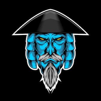 Samouraï bleu