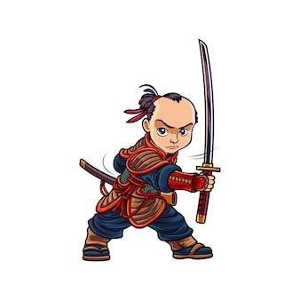 Samouraï de dessin animé