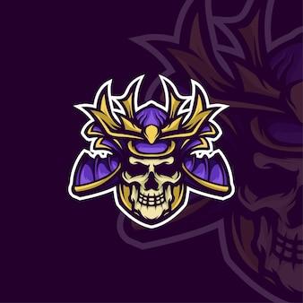 Samourai mascot logo e-sport