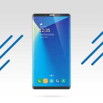 Samsung note mobile mockup modern