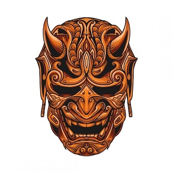 Samurai mask vector