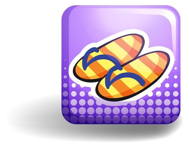Sandales sur badge violet