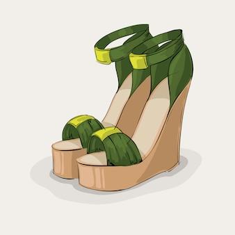 Sandales vertes de luxe