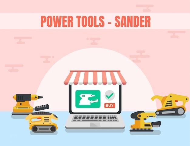 Sander power tool boutique en ligne de bois
