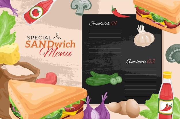 Sandwich au menu de restauration rapide