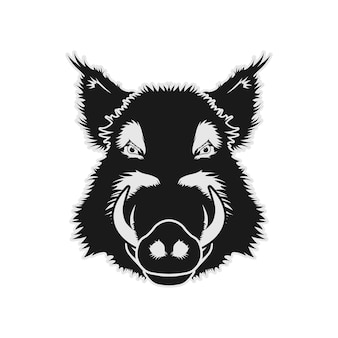Sanglier cochon porc porc visage tête vector design inspiration