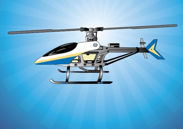 Sans illustration vectorielle d'hélicoptère