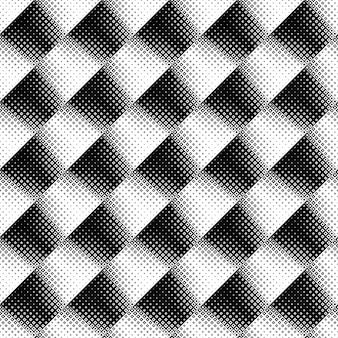 Sans soudure de fond carré noir et blanc diagonal