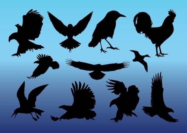 Sans vecteurs oiseaux