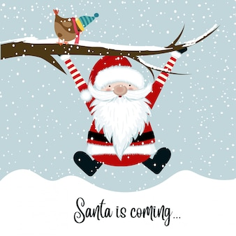 Santa arrive