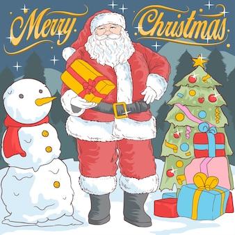 Santa et boule de neige