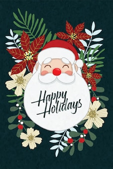 Santa joyeuses fêtes