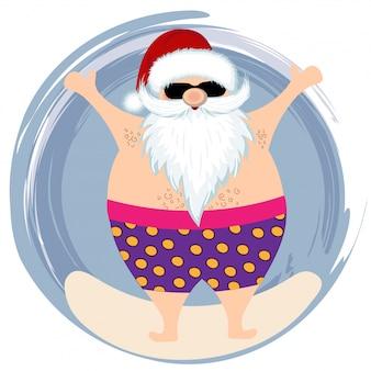 Santa à la plage