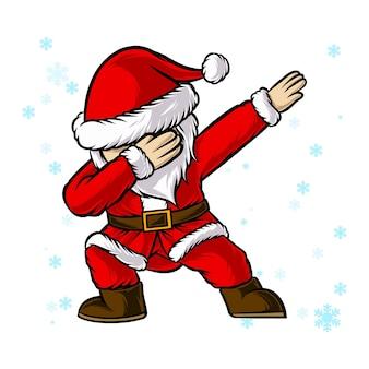 Santa tamponnant la danse