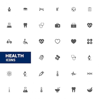 Santé icon set