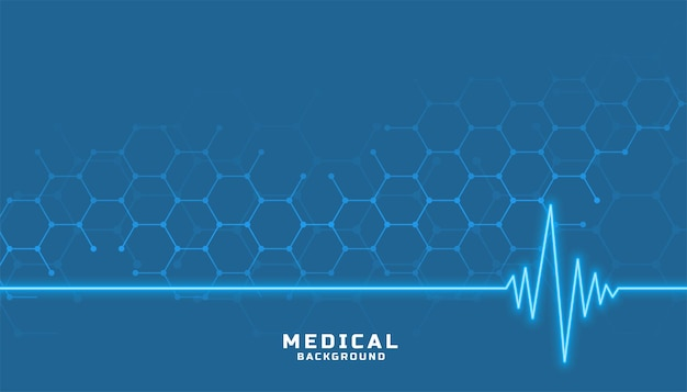 Santé et médecine avec ligne cardiographe