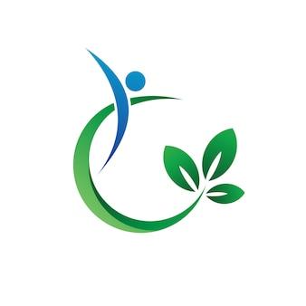 Santé et nature logo vector