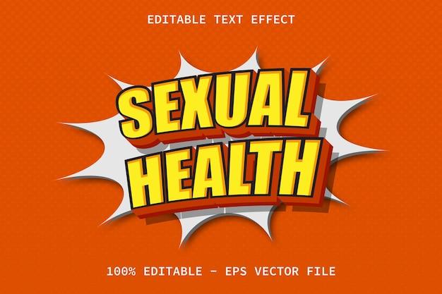 Santé sexuelle avec effet de texte modifiable de style comique