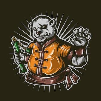 Saolin panda kungfu master skills