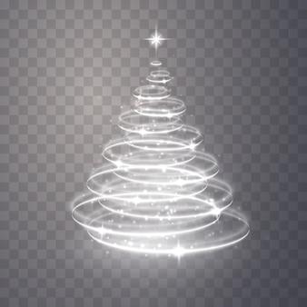 Sapin de noël de la lumière