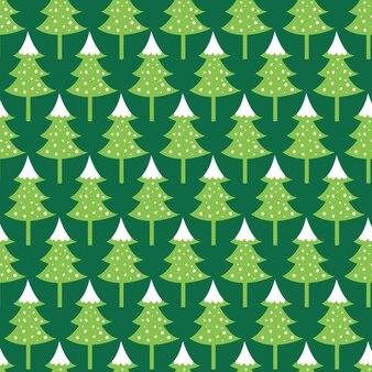 Sapin de noël sans couture avec fond de couleur verte