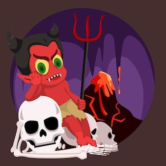 Satan s'asseoir en enfer