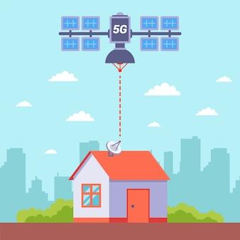 Le satellite distribue une connexion internet 5g gratuite