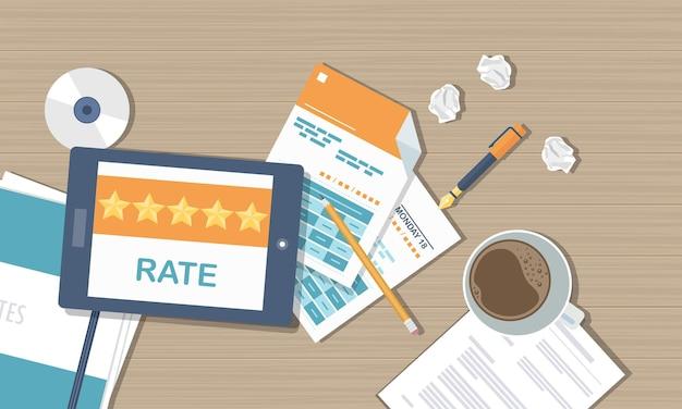 Satisfaction des clients et commentaires