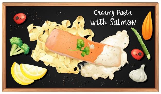 Sauce à la crème au saumon et aux pâtes
