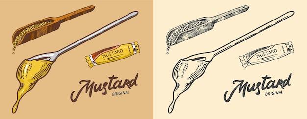 Sauce liquide aux éclaboussures de moutarde ou de condiment épicé épicé