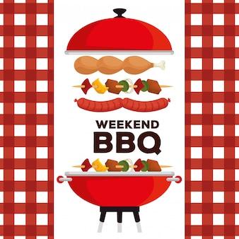 Saucisses aux cuisses et pommes de terre à la préparation barbecue