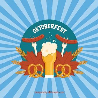 Saucisses et bière pour célébrer le oktoberfest