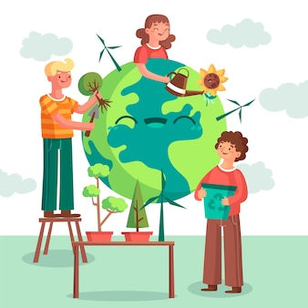 Sauver la conception illustrée de la planète