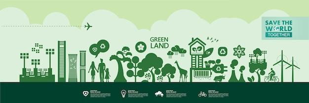 Sauver le monde ensemble écologie verte