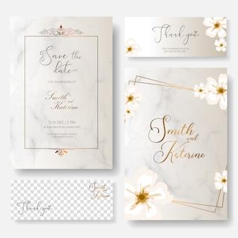 Sauvez la carte d'anniversaire de mariage de jour spécial de date