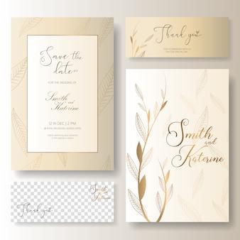 Sauvez la carte d'anniversaire de mariage de jour spécial de jour avec la carte de remerciement