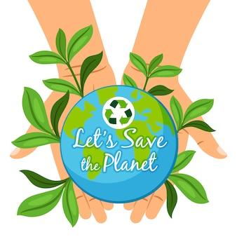 Sauvez la carte de la planète