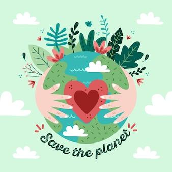 Sauvez le concept de la planète