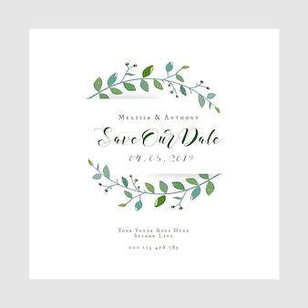 Sauvez notre carte d'invitation de mariage de date