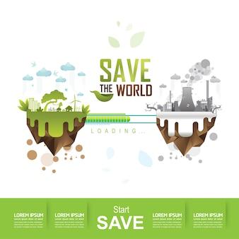 Sauvez le vecteur du monde