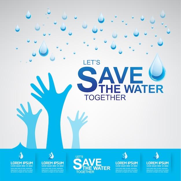 Sauvez le vecteur de l'eau l'eau est la vie