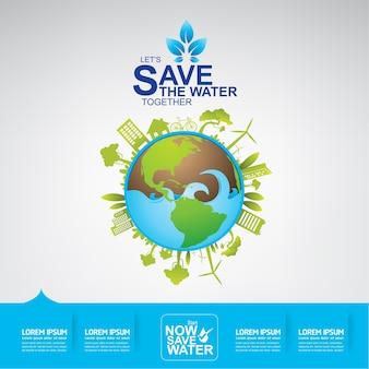Sauvez le vecteur de l'eau