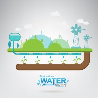Sauvez la vie de l'eau concept