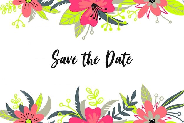 Save the date carte d'invitation de mariage