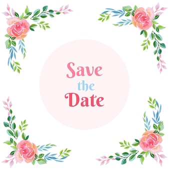 Save the date rose background